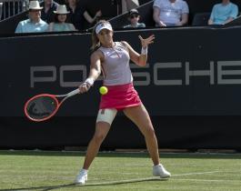 Nadia Podoroska ganó y jugará los cuartos de final en Alemania
