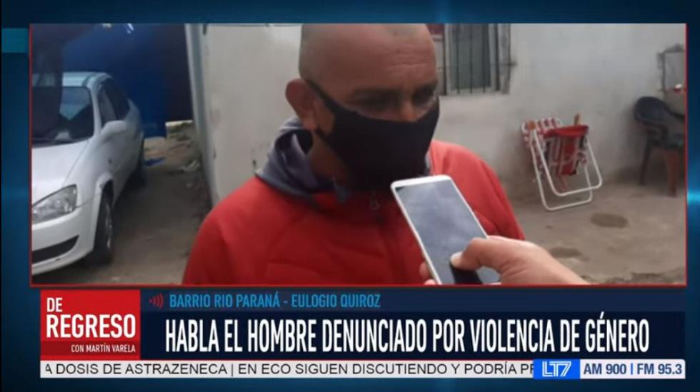 hombre denunciado por violencia de genero barrio rio parana.jpg