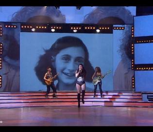 """Repudian el uso de la imagen de Ana Frank durante una presentación musical en """"ShowMatch"""""""