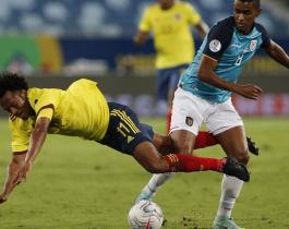 Colombia aguantó la diferencia ante Ecuador y se llevó la victoria