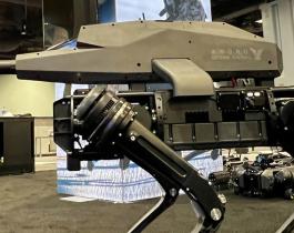 """Fabrican un perro robot con un """"rifle letal"""" de alta tecnología"""