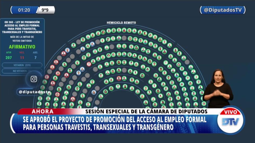 diputados tablero media sancion cupo laboral trans.jpg