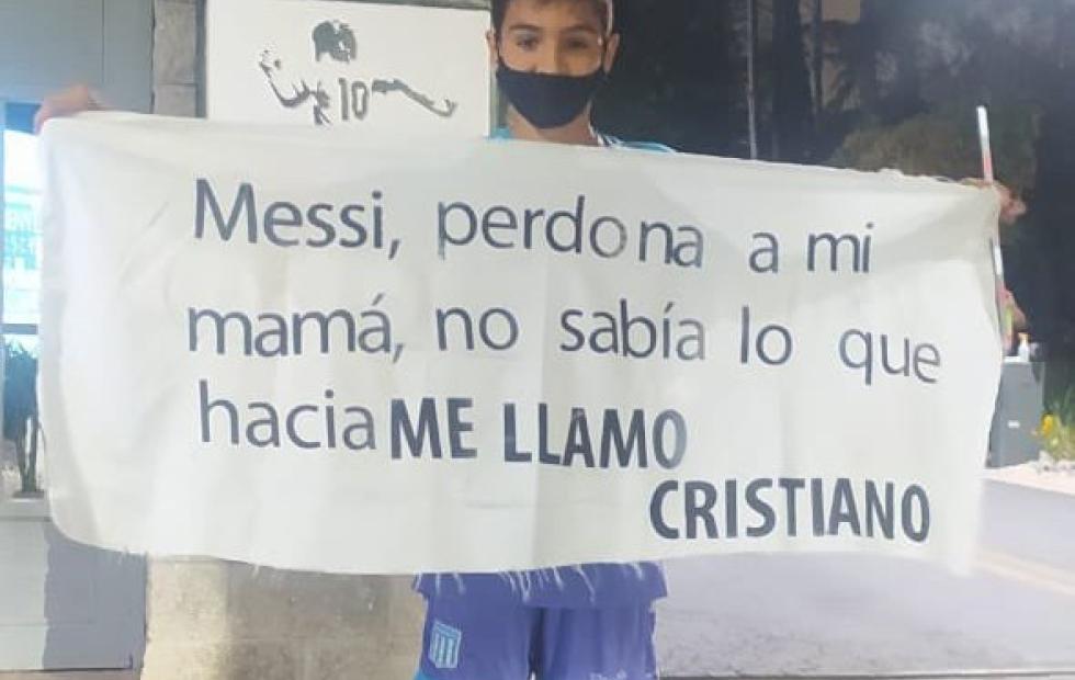 """""""Messi, perdona a mi mamá..."""": el insólito pedido de un niño al astro"""